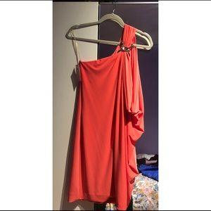 Caché one shoulder mini dress